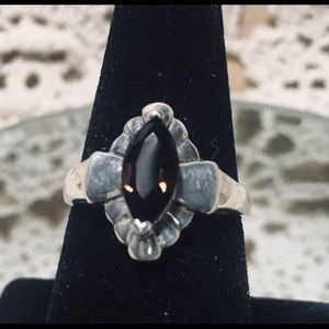 Vintage sterling Brown topaz ring